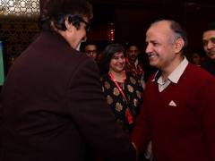 Amitabh with manish Sisodia