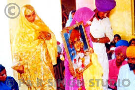 Bibi Surinder kaur wedding pic.