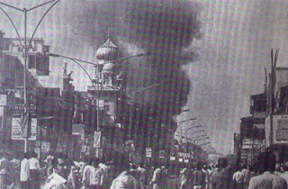 Gurudwara Sisganj arsoned in 1984