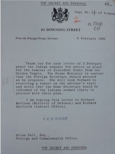 Letter to Uk by India