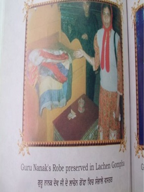Robes of Baba Nanak at Lachen Gompha