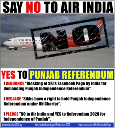 SFJ to boycott Air India