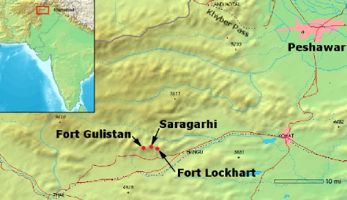 Saragadhi map