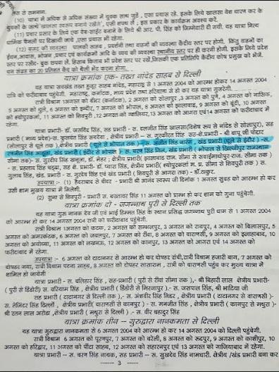 Ranjit Singh Ahuja sah yatra prabhari