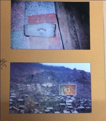 Foot print of guru nanak in Lachen Monastry